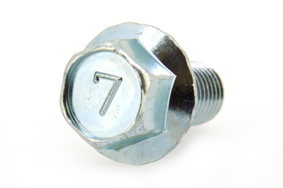 鉄/ユニクロ 7マーク フランジボルト [2種・セレート付き](細目・全ねじ) M12×50 《ピッチ=1.25》 【 小箱 : 1箱/60本入り 】