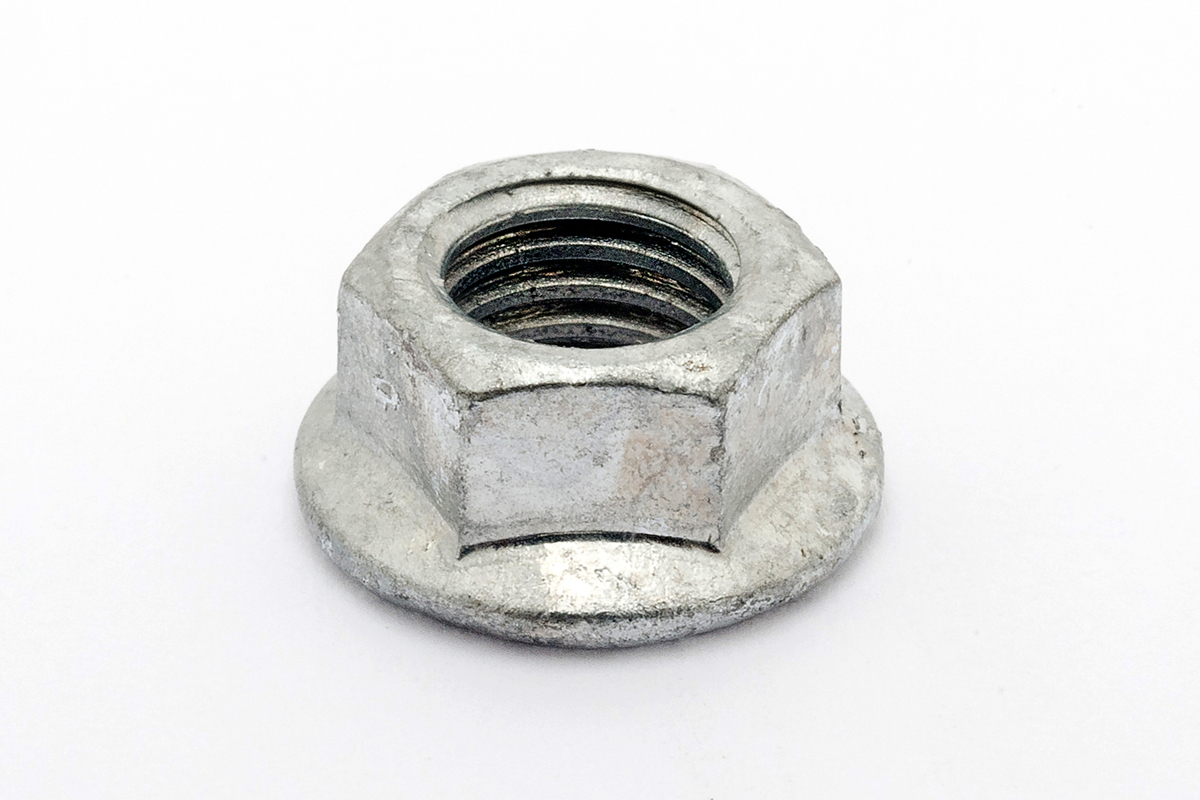 鉄/ドブ フランジナット [セレート付]M6 【 小箱 : 1箱/1000個入り 】