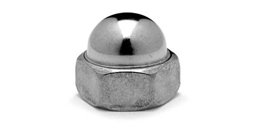 鉄(S45C)/ユニクロ 袋ナットM16 【 小箱 : 1箱/100個入り 】
