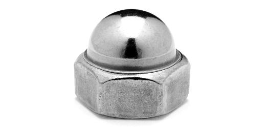 鉄/クロメート 袋ナット (細目)M12 《ピッチ=1.25》 【 小箱 : 1箱/200個入り 】