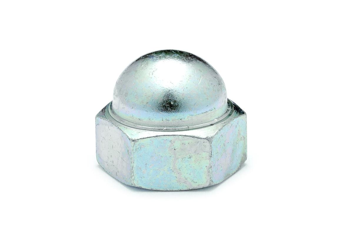 鉄/ユニクロ 袋ナット (左ねじ)M8 【 小箱 : 1箱/600個入り 】