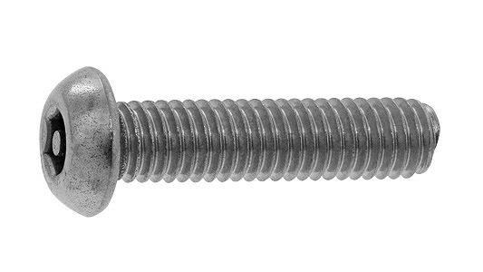 ステンレス/SSブラック (ピン・六角穴) ボタン小ねじ [TRF]M5×16 【 小箱 : 1箱/100本入り 】