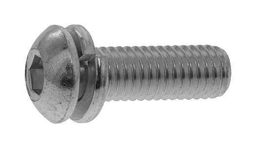 鉄(SCM435)/ユニクロ ボタンセムス [P=2] Sタイプ 日産ねじ製M4×8 【 小箱 : 1箱/1000本入り 】