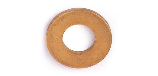 黄銅/生地 丸ワッシャー [特寸] (公差: 3.3+0.2)3.3×10×0.8 【 小箱 : 1箱/5000個入り 】