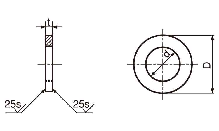 """Stainless steel round washers 1.5 × 3.0 × 0.3 t (OTC) """"ISO small] and [No.004]"""