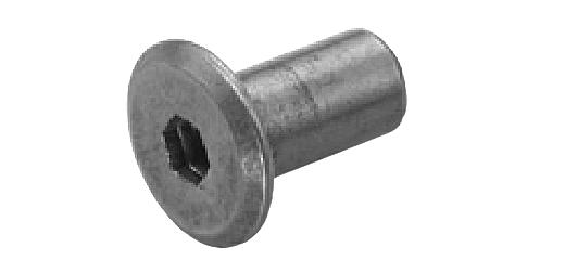 鉄/ニッケル ジョイントコネクターナット JCN-A (六角穴=5mm) [ムラコシ製]M6×12 【 小箱 : 1箱/200本入り 】