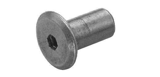 鉄/ニッケル ジョイントコネクターナット JCN-B (六角穴=4mm) [ムラコシ製]M6×17 【 小箱 : 1箱/150本入り 】