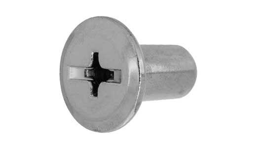 鉄/茶ブロンズ (GB) ジョイントコネクターナット JCN (+-) 頭部径=17mmM6×17 【 小箱 : 1箱/500本入り 】