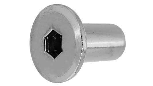 鉄/茶ブロンズ (GB) ジョイントコネクターナット JCN (六角穴=5mm)M6×17 【 小箱 : 1箱/300本入り 】