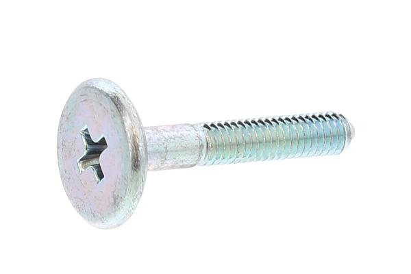 鉄/三価ホワイト 連結金具ボルト JB-A (+-) [ムラコシ製]M4×25 【 小箱 : 1箱/500本入り 】
