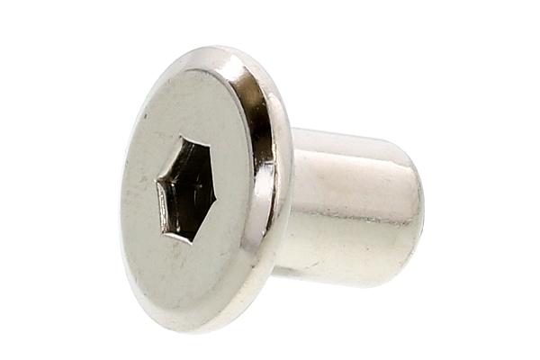 鉄/ニッケル ジョイントコネクターナット JCN (六角穴=5mm)M6×17 【 小箱 : 1箱/300本入り 】