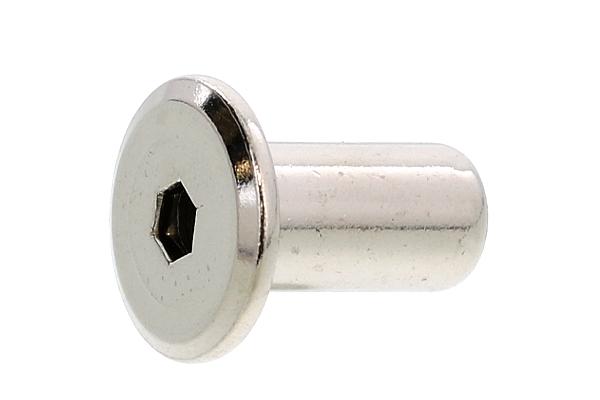 鉄/ニッケル ジョイントコネクターナット JCN (六角穴=4mm)M6×17 【 小箱 : 1箱/300本入り 】