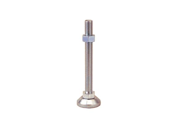 鉄/三価ホワイト アジャストボルト [重量物用]M20×200 【 お得セット : 10本入り 】