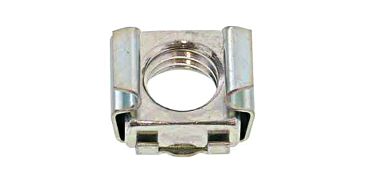 鉄/生地 ケージナット K型M5 [CN-M5-16K] ( 母材厚さ : 0.7~1.6mm ) 【 小箱 : 1箱/500個入り 】