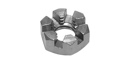 鉄/生地 溝付ナット [1種・低形]M24 【 小箱 : 1箱/40個入り 】