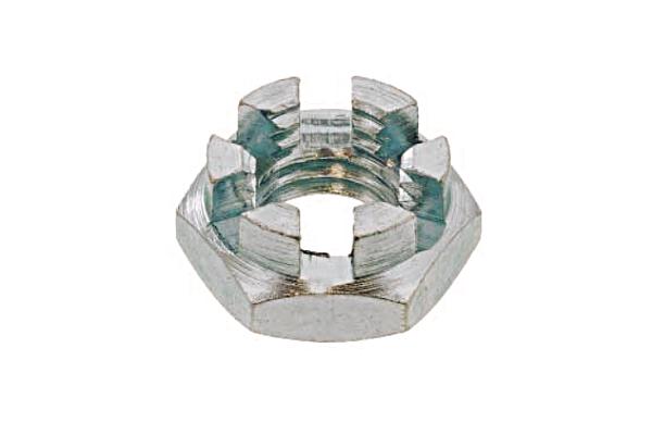 鉄/三価ホワイト 溝付ナット [2種・低形]M24 【 小箱 : 1箱/40個入り 】