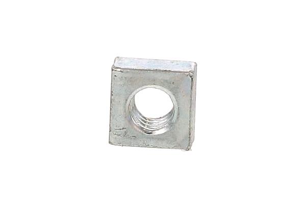 鉄/三価ホワイト 四角ナットM8 (一辺 : 15mm / 厚さ : 4.5mm) 【 小箱 : 1箱/500個入り 】
