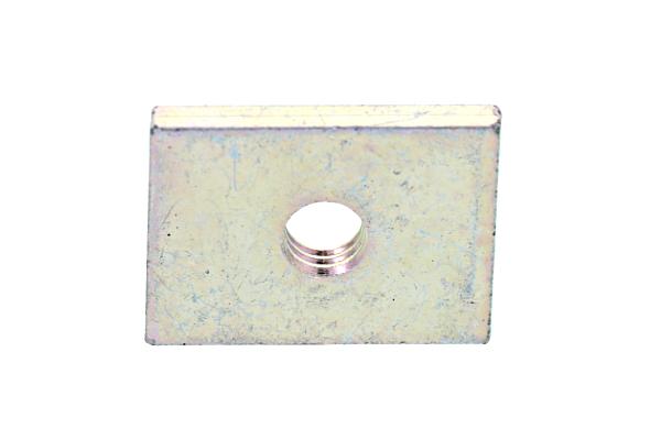 23mm : 横×縦 ) 長方形ナットM6 】 1箱/250個入り 【 小箱 鉄/三価ホワイト 17mm × ( :