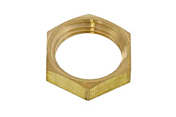 低カドミウム黄銅/生地 管用ロックナット [管用平行ねじ(旧JIS規格)]PF1/8 【 小箱 : 1箱/100個入り 】