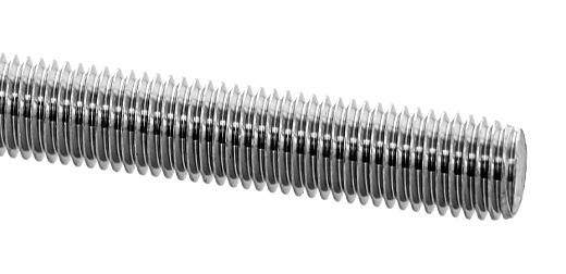 鉄/ユニクロ メーター寸切ボルト (細目)M22×1000 《ピッチ=1.5》 【 バラ売り : 1本入り 】