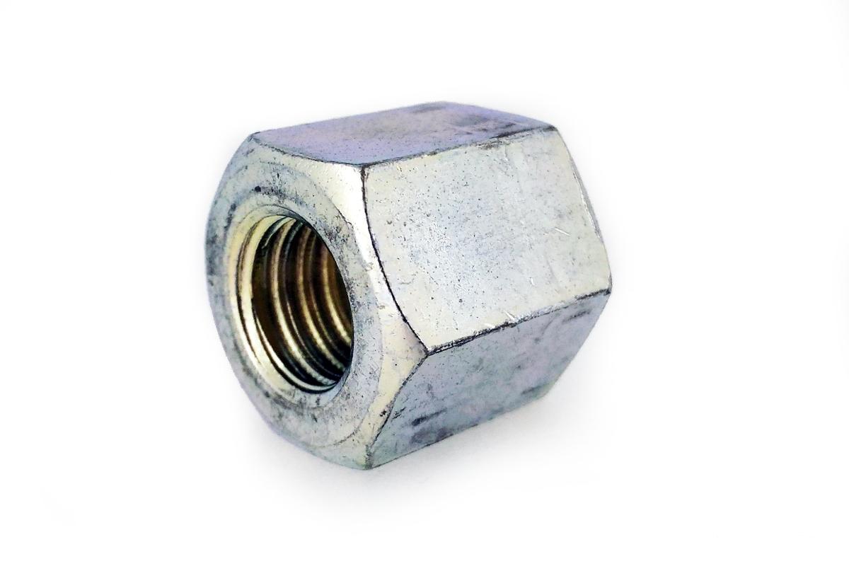 鉄/三価ホワイト 平径大 高ナット (ウィット)W3/4×60 【 小箱 : 1箱/15本入り 】