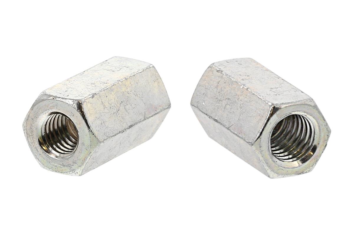 鉄/三価ホワイト 異径高ナット (並目-並目)M10 - M12×40 【 小箱 : 1箱/70本入り 】