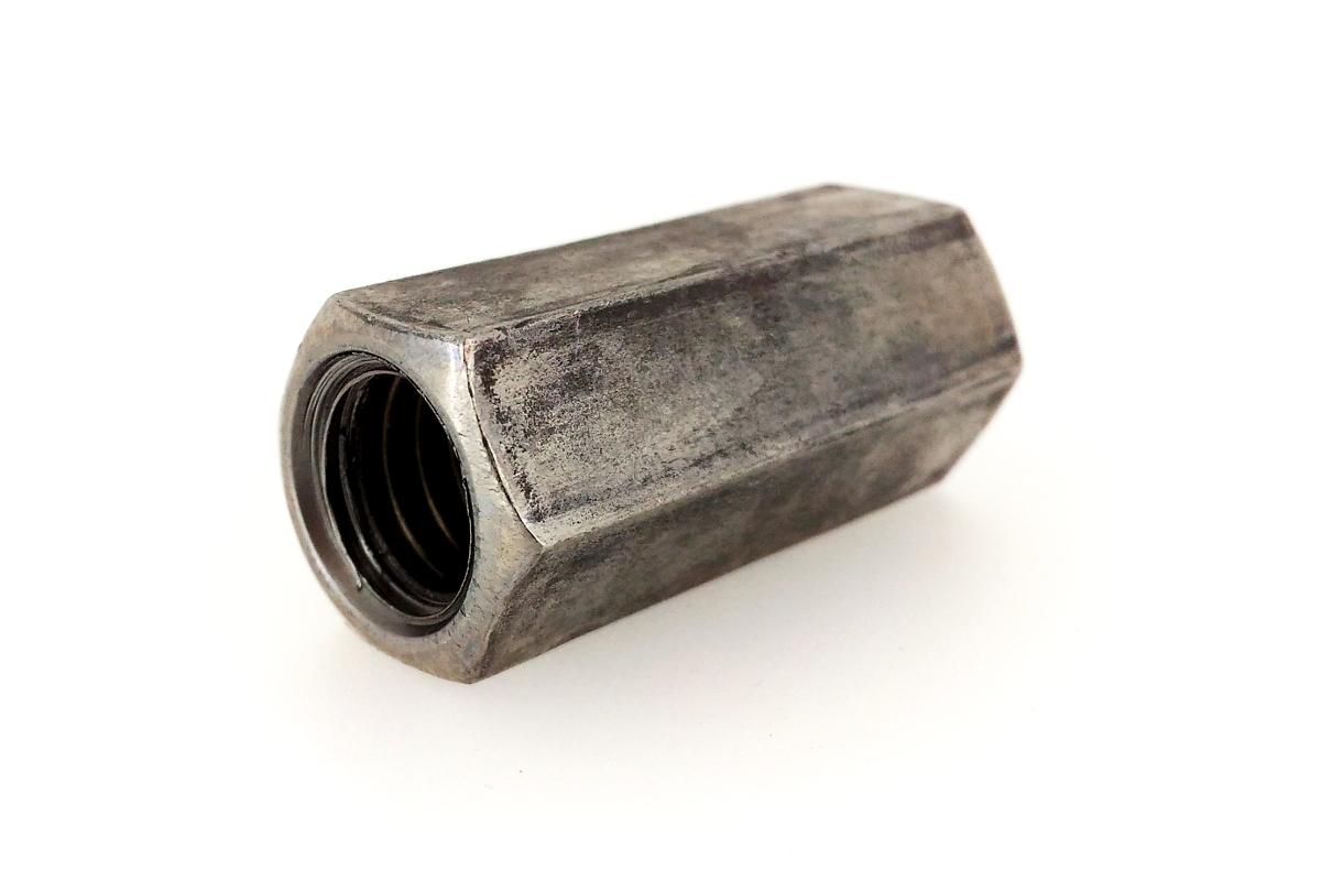 鉄/生地 異径高ナット (ウィット-ウィット)W5/16 - W3/8×25 【 小箱 : 1箱/180本入り 】