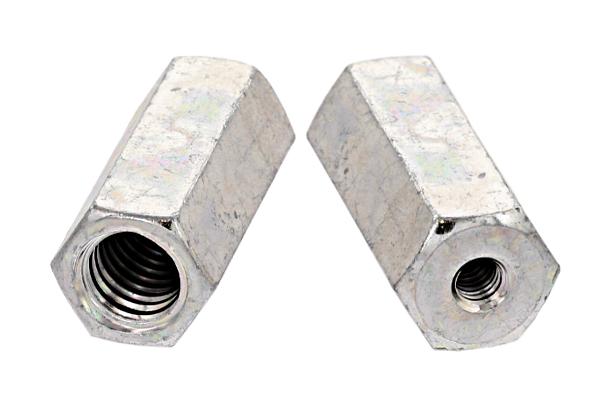 鉄/三価ホワイト 異径高ナット (ウィット-ウィット)W3/8 - W1/2×40 【 小箱 : 1箱/60本入り 】