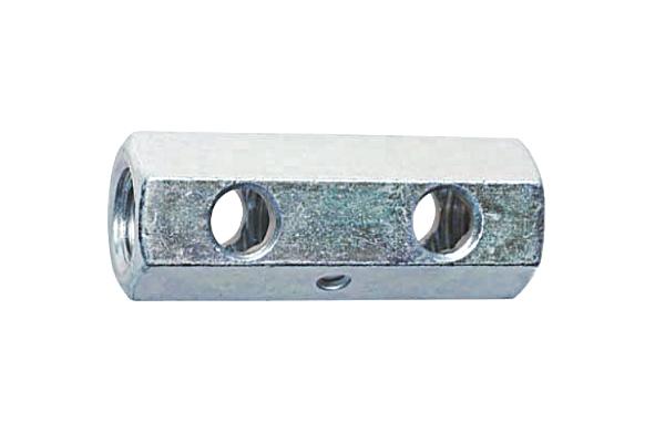 鉄/ユニクロ 高ナット [センターポンチ・横穴付] (ウィット)W1/2×40 【 小箱 : 1箱/60本入り 】
