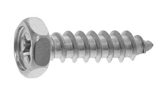鉄/クローム (+) 六角アプセットタッピング [1種A形]M8×30 【 小箱 : 1箱/200本入り 】