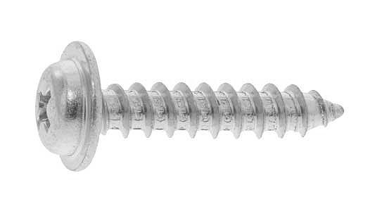 鉄/クローム (+) ナベワッシャーヘッド タッピング [1種A形]M6×30 【 小箱 : 1箱/300本入り 】