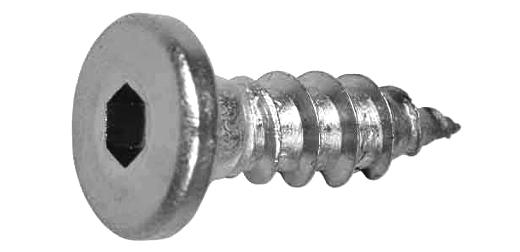 ステンレス/生地 (六角穴) 極低頭 平タッピング [1種A形]M4×16 【 小箱 : 1箱/1000本入り 】