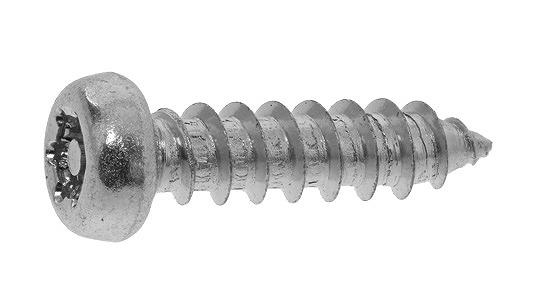 ステンレス/SSブラック (ピン・トルクス) ナベタッピング [1種A形]M4×8 【 小箱 : 1箱/1000本入り 】