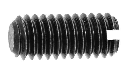 鉄/三価ブラック (-)止めねじ (平先)M2.6×2.6 【 小箱 : 1箱/1000本入り 】