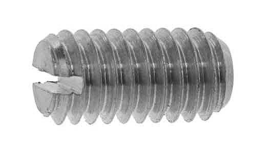 低カドミウム黄銅/ニッケル (-)止めねじ (平先)M2.6×3 【 小箱 : 1箱/500本入り 】