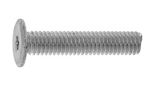 鉄/三価ホワイト (トルクス) スリムヘッド小ねじM6×30 【 お得セット : 100本入り 】