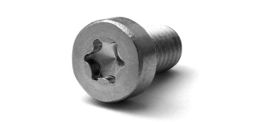 鉄(SCM435)/三価ホワイト 低頭 トルクスキャップ (全ねじ)M8×10 【 小箱 : 1箱/100本入り 】