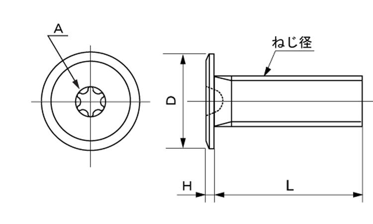 ステンレス/茶ブロンズ(GB6号)(トルクス)スリムヘッド小ねじM2.6×10【小箱:1箱/2000本入り】