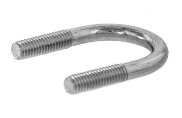 """SUS316L/生地 Uボルト [鋼管用]M16 × 150A (6"""") 【 お得セット : 10本入り 】"""