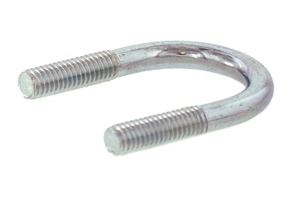 鉄/三価ホワイト Uボルト [鋼管用]M6×20A (3/4) 【 小箱 : 1箱/1100本入り 】