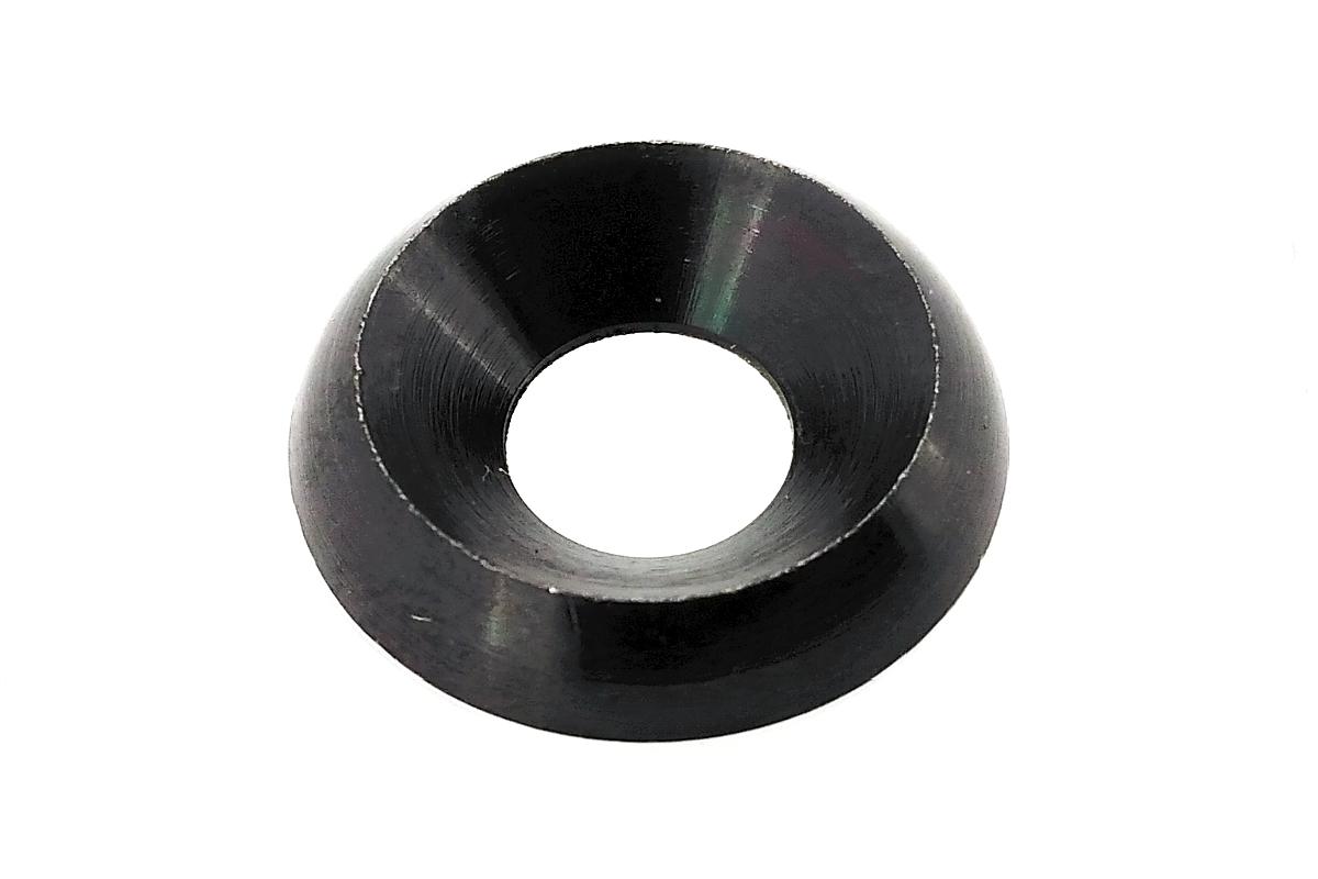 低カドミウム黄銅/黒色クロメート ロゼットワッシャーM6 【 小箱 : 1箱/500個入り 】