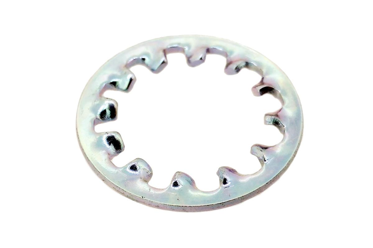鉄/三価ホワイト 歯付きワッシャー (内歯形)M6 【 小箱 : 1箱/7000個入り 】