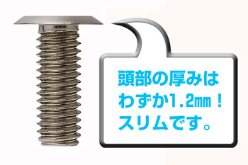 [Select size] for stainless steel license plate bolt flat head! [Slimhead6robe_3 book, number bolt]