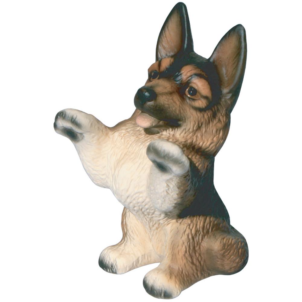 色んな犬種を集めて楽しい 愛犬家の皆様にお勧めグッズです <セール&特集> このしぐさと表情が可愛いですよね 代引き不可 瀬戸焼 シェパード1 犬の置物 あす楽対応 ジャーマン