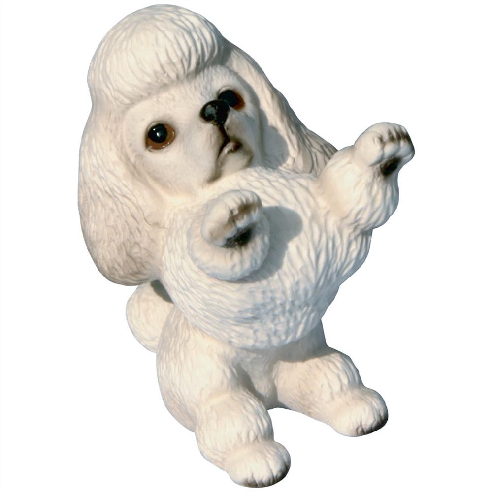 """色んな犬種を集めて楽しい 愛犬家の皆様にお勧めグッズです """"おかわり""""のポーズと表情が可愛いですよね 瀬戸焼 お求めやすく価格改定 犬の置物 完売 あす楽対応 プードル1"""