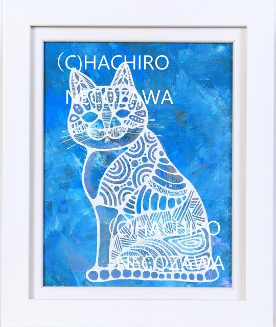【※※原画※※】DRAWS CAT.猫八が描く猫。猫八猫画。(F0号) 限定1点のみ 猫 ネコ ねこ キャット 猫沢 八郎 猫の絵 クリスマスプレゼント 新築祝い 誕生祝い 内祝 ギフト プレゼント 御祝 インテリア