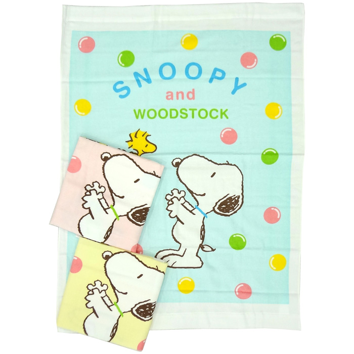 Baby Snoopy towel SP 'bubble train ' 80 x 110 cm gauze back number: 1521-60016 cotton 100% Nishikawa living