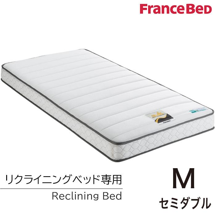 【ベッドと同時購入で送料無料】フランスベッド リクライニングベッド専用マットレス/RX-STD2/セミダブル 両面仕様 高密度連続スプリング 日本製