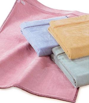 衿付きニューマイヤー毛布(軽量タイプ)(シングル)