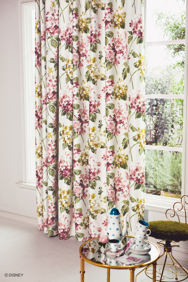 Disney Curtains 100 X 200 Cm Alice Hydrangea One With Washable